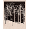 Hero Arts Rubber Stamp Winter Tree Scene K5978