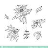 mama-elephant-clear-stamp-floral-series-poinsettia