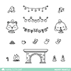 Mama Elephant Clear Stamp Merry Mantel