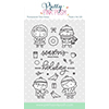 Pretty Pink Posh Christmas Friends Clear Stamp Set