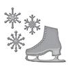 Spellbinders D-lites Holiday Flakes 'n Skates Dies S2-235