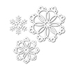 Simon Says Stamp Die Set Snowflakes for the Season
