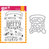 Wplus9 Be Merry Clear Stamp and Die Combo