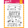 Wplus9 Be Merry Clear Stamps
