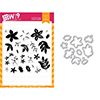 Wplus9 Be Merry Florals Clear Stamp and Die Combo