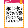 Wplus9 Be Merry Florals Clear Stamps