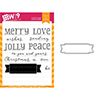 Wplus9 Be Merry Sentiments Clear Stamp and Die Combo