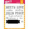 Wplus9 Be Merry Sentiments Clear Stamps