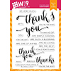Wplus9 Hand Lettered Thanks Clear Stamps