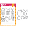 Wplus9 Holiday Houses Clear Stamp and Die Combo