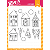 Wplus9 Holiday Houses Clear Stamps