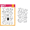 Wplus9 Santa's Reindeer Clear Stamp and Die Combo