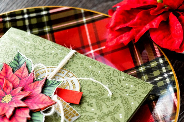 Hero Arts | Vintage Layered Poinsettia Card