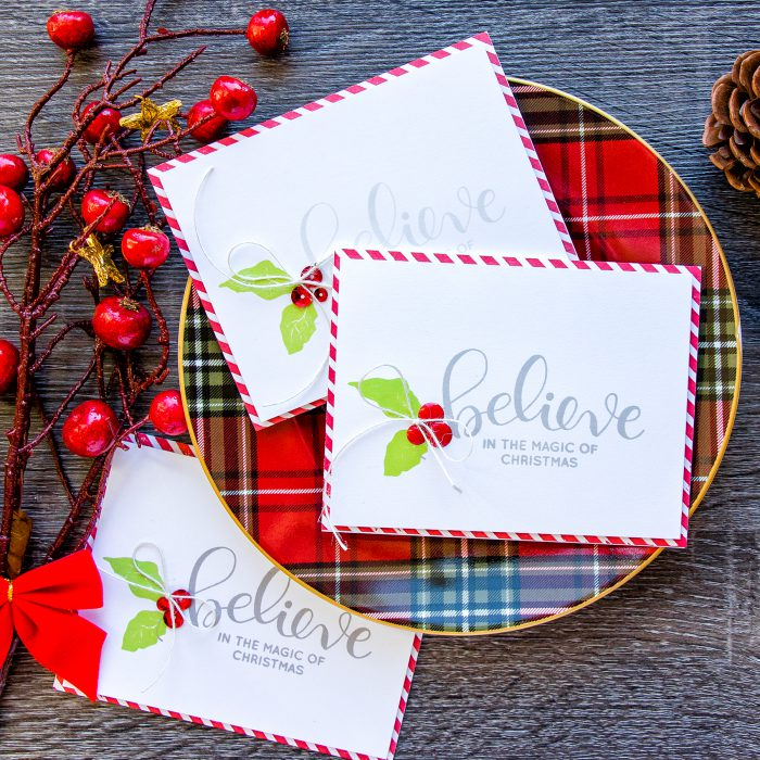 Simon Says Stamp | Simple Stamped Christmas Cards - Believe in the Magic of Christmas. Video
