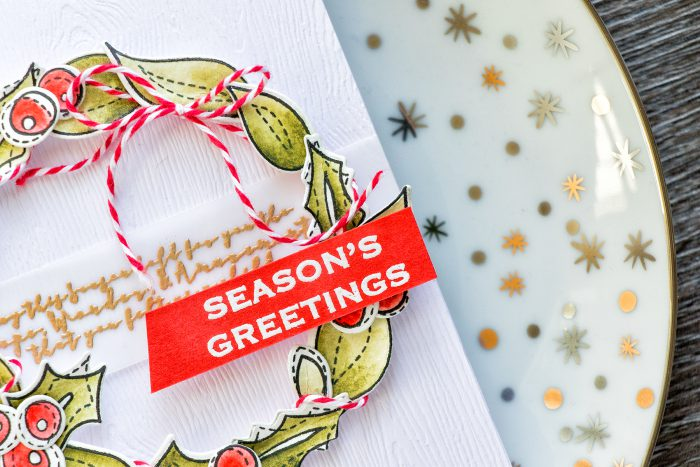 Simon Says Stamp | Easy Watercolor Wreath - Season's Greeting Card
