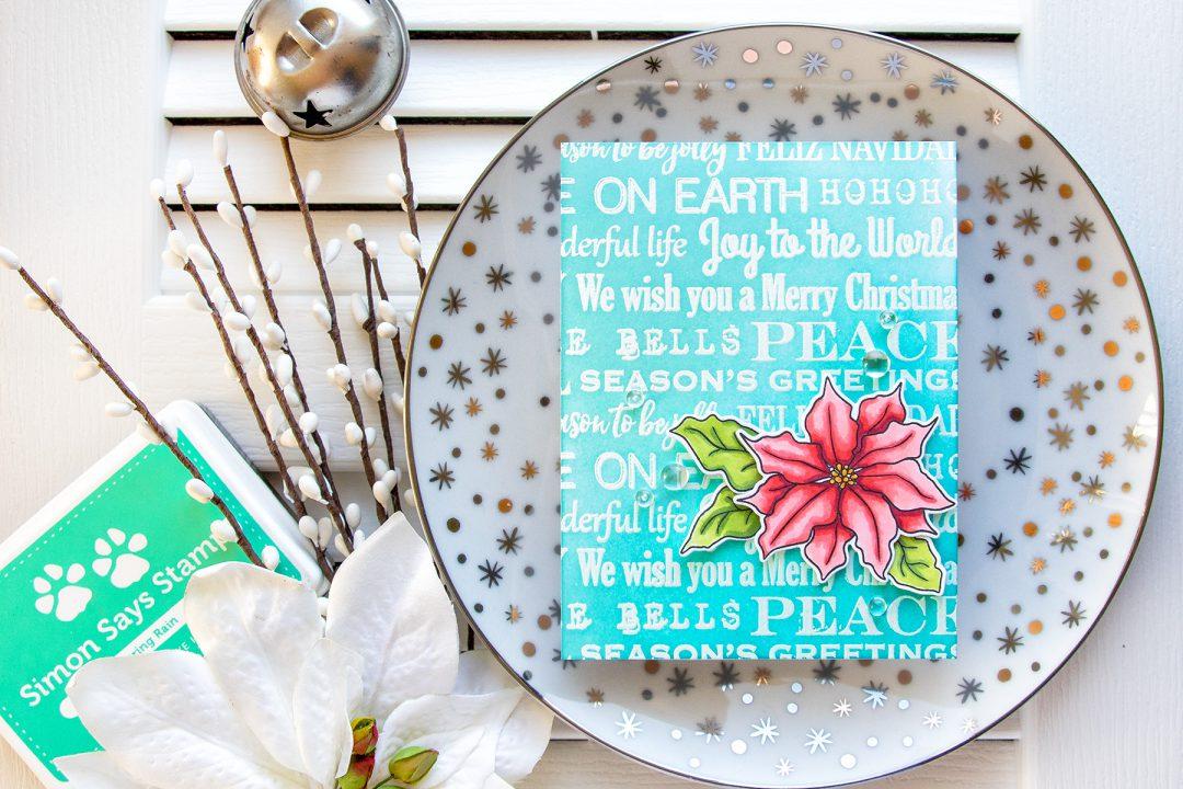 Simon Says Stamp | We Wish You A Merry Christmas Poinsettia Card