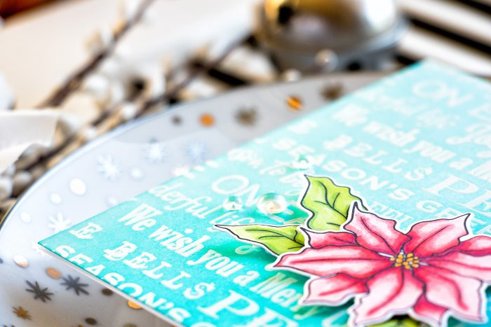 Simon Says Stamp | We Wish You A Merry Christmas Poinsettia Card