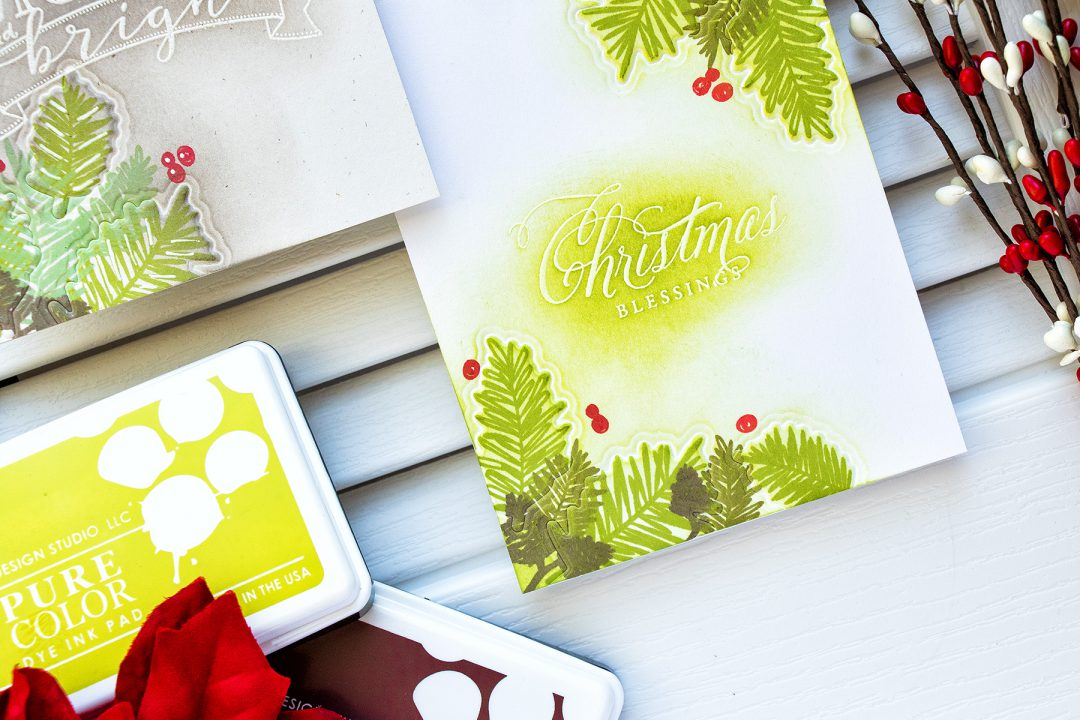 WPlus9 | One Layer Christmas Cards with Dry Embossed Details. Video ...