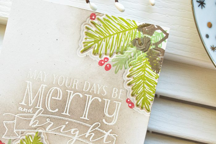 WPlus9 | One Layer Christmas Cards with Dry Embossed Details. Video