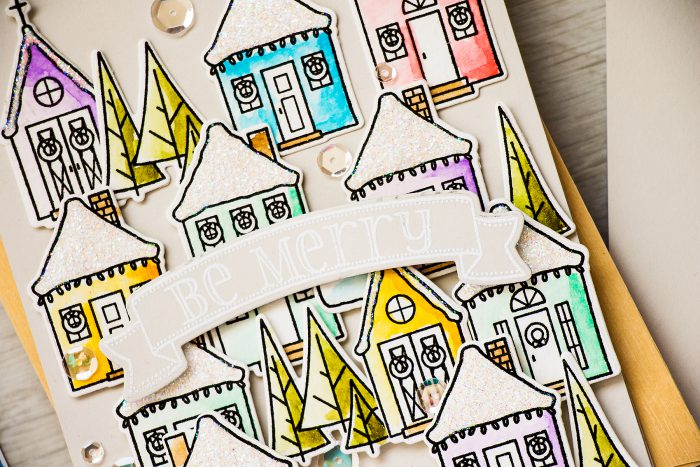 WPlus9 | Snowy Holiday Houses Cards. Video