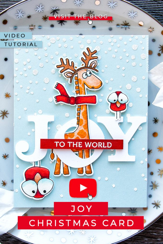Simon Says Stamp | Stacked Christmas Animals (Dress Up Your Critters For Christmas). Card and video tutorial by Yana Smakula featuring Simon Says Clear Stamps Stacking Animals, Simon Says Cling Rubber Stamp Falling Snow, and Simon Says Stamp Big Joy Wafer Dies #cardmaking #christmascard #holidaycard