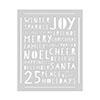 Hero Arts Holiday Words Stencil