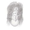 Spellbinders Whimsical Snowman 3D Shading Cling Stamp