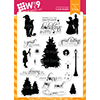 WPlus9 Iconic Christmas Stamp Set
