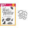 Wplus9 Holiday Boughs Set Clear Stamp and Die Combo