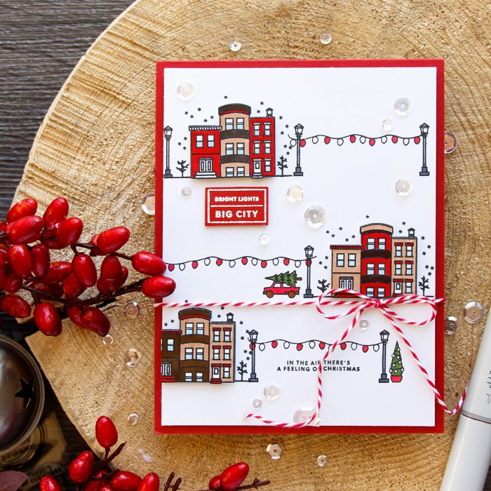 Hero Arts | Bright Lights - Big City Christmas Card