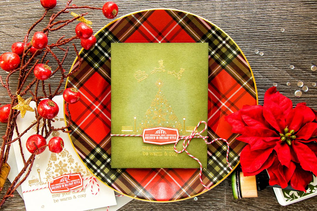 Hero Arts | November My Monthly Hero Blog Hop – Simple Heat Embossed Holiday Cards