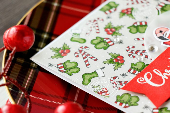 Simon Says Stamp | Stamping Holiday Pattern with Advent Holiday Icons (and dressing up critters for Christmas)