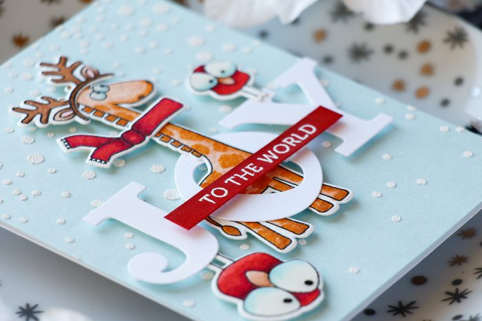 Simon Says Stamp | Stacked Christmas Animals (Dress Up Your Critters For Christmas). Card and video tutorial by Yana Smakula