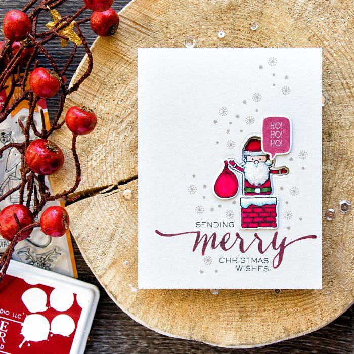WPlus9 | Funny Santa Window Card