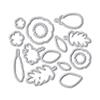 WPlus9 Feathers & Florals Die