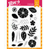 WPlus9 Feathers & Florals Stamp Set