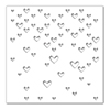 Simon Says Stencils Large Falling Hearts