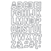 Hero Arts Luggage Tag Alphabet Dies