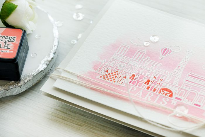 Hero Arts | Watercolor Paris & London Valentine's Day Cards. Blog Hop + Giveaway