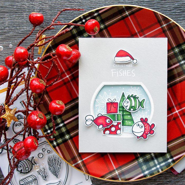 Simon Says Stamp | Christmas Fishes Card by Yana Smakula. Create a Christmas Fishtank!