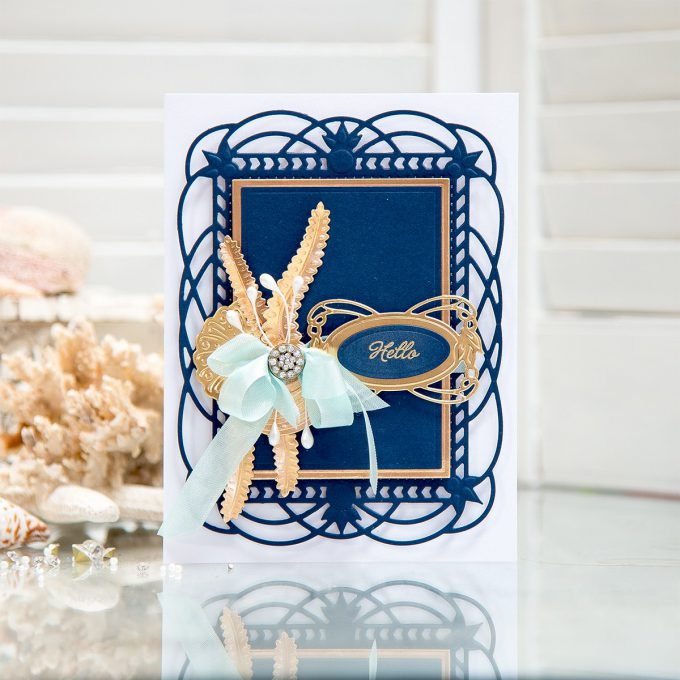 Spellbinders | Layered Hello Card with Art Nouveau Collection. Video