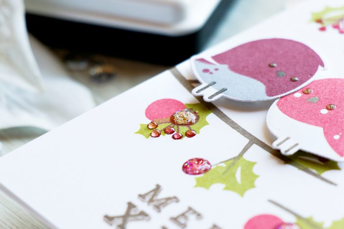 WPlus9 | Stamping Holiday Scenes - Merry Christmas Robins Cards. Video