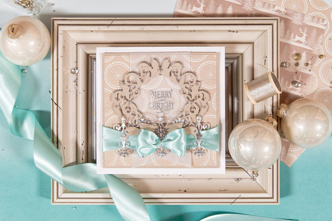 Spellbinders | Merry & Bright Christmas Card with Rouge Royale Collection. Video