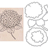 Hero Arts Large Hydrangea Stamp + Die Combo