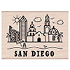 Hero Arts Rubber Stamp Destination San Diego