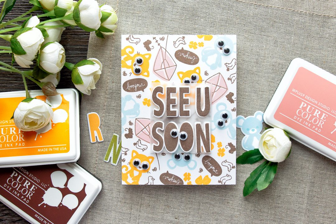 WPlus9 | See You Soon - Googly Eyes Card