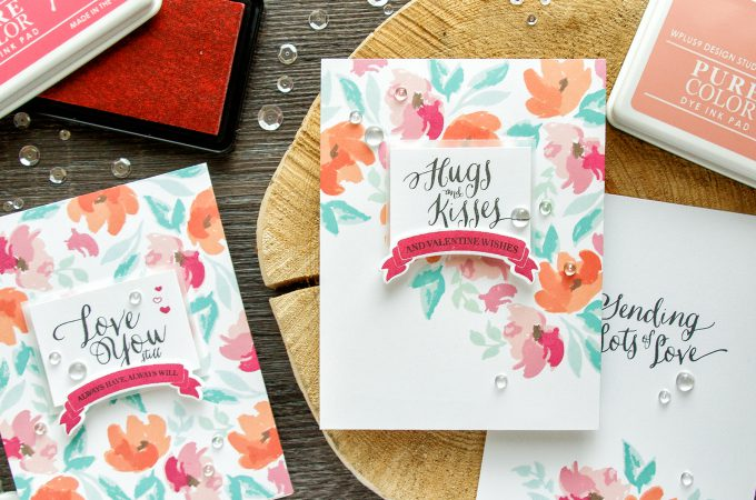 WPlus9 | Floral Valentines - Background Stamping 3 Ways