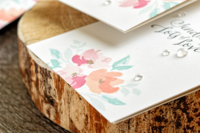 WPlus9   Floral Valentines - Background Stamping 3 Ways