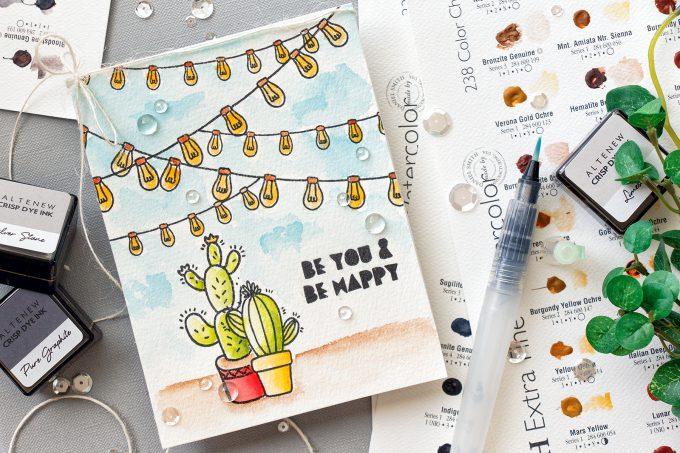 Altenew | Watercolor Cacti Card