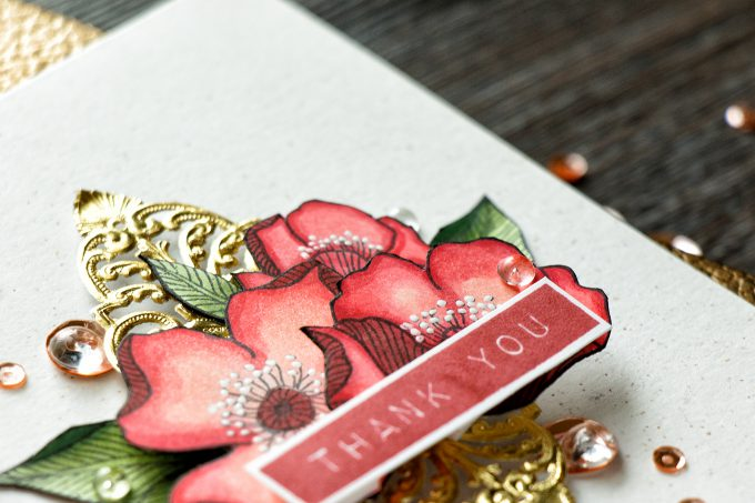 Altenew | Alcohol Markers Release - Royal Flowers Thank You Card. Blog Hop + Giveaway